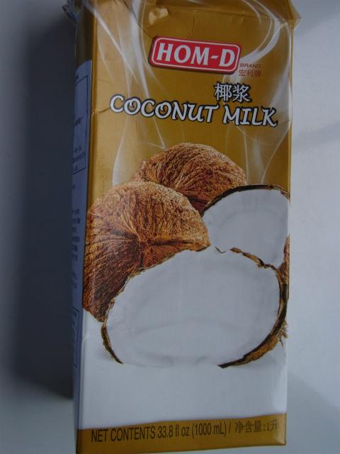ココナッツミルク(液体)のパッケージ