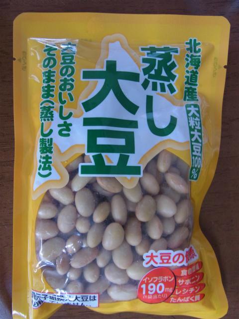 蒸し大豆のパッケージ
