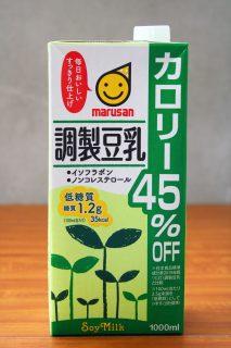 マルサン調整豆乳カロリー45%OFFのパッケージ